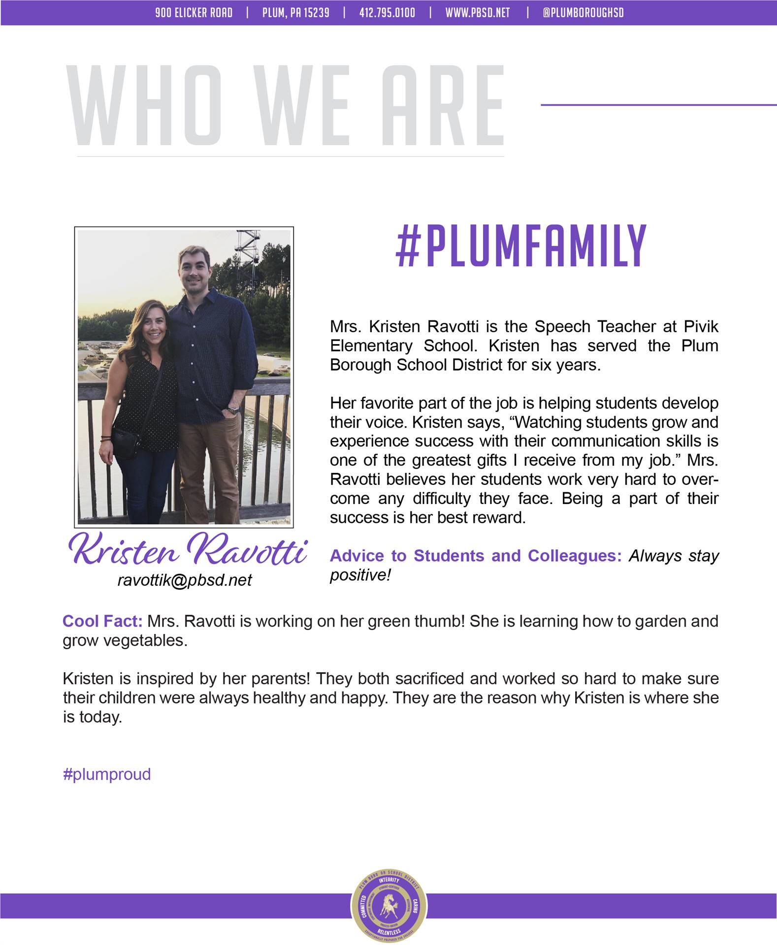 Who We Are Wednesday features Kristin Ravotti.