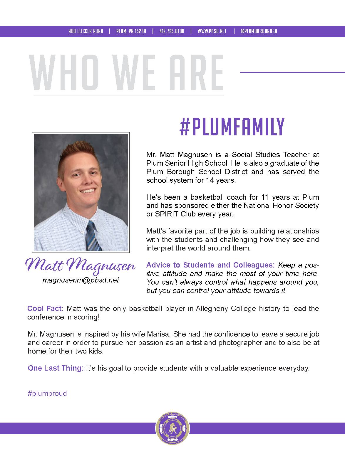 Who We Are Wednesday features Matt Magnusen.