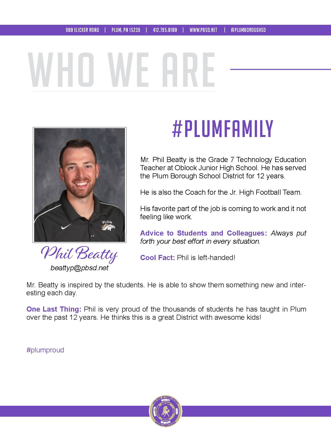 Who We Are Wednesday features Phil Beatty