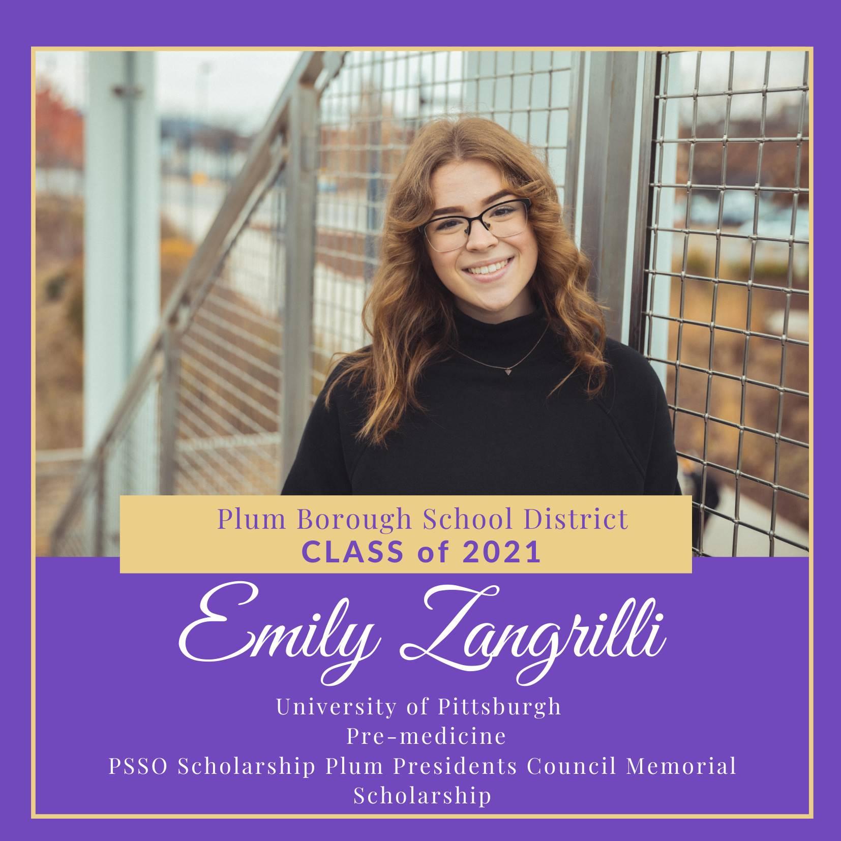 Congratulations to Emily Zangrilli, Class of 2021!