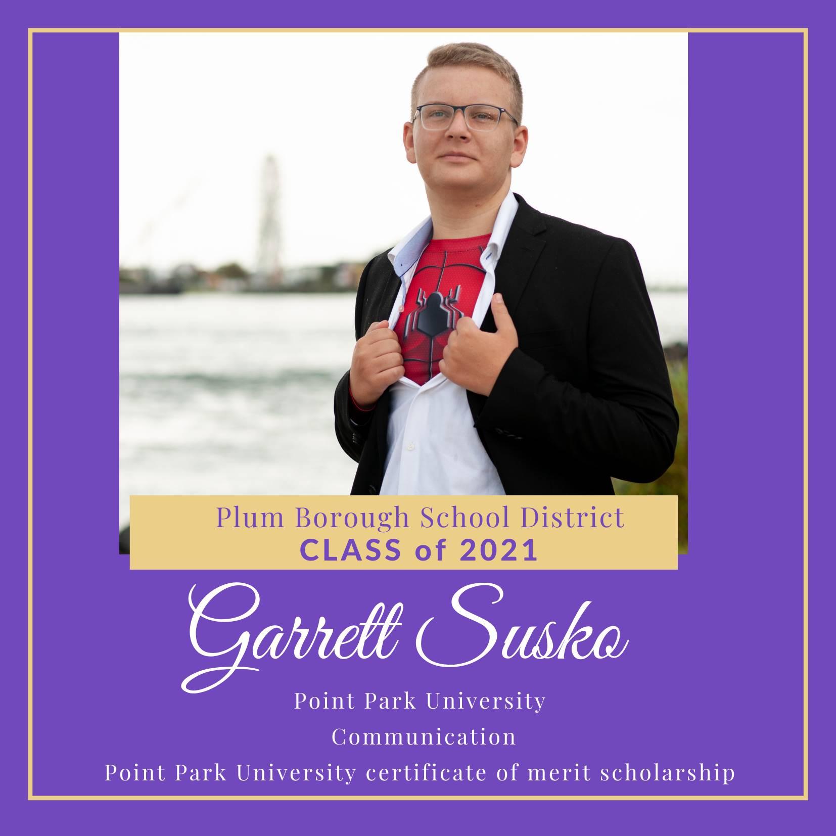 Congratulations to Garrett Susko, Class of 2021!
