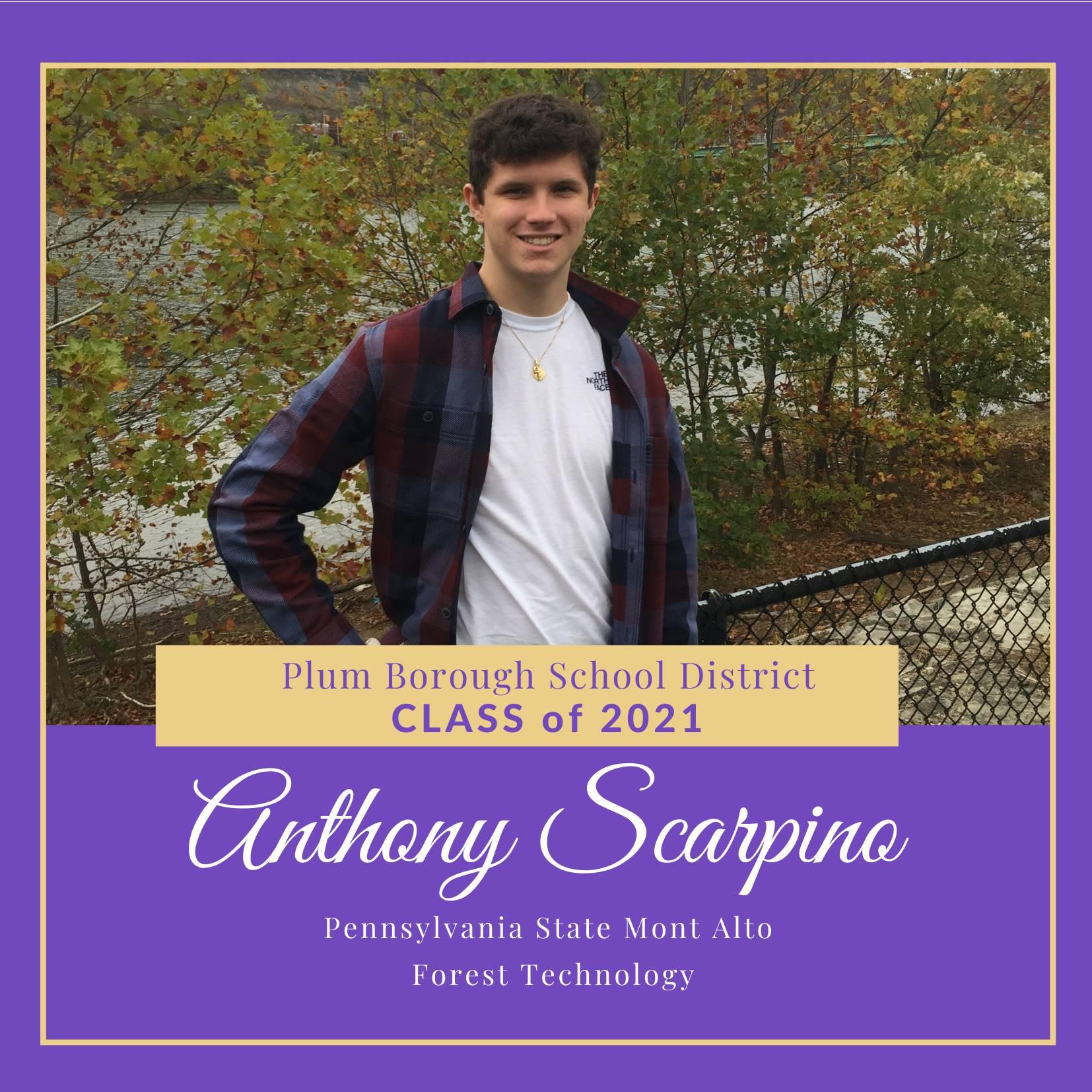 Congratulations to Anthony Scarpino, Class of 2021!