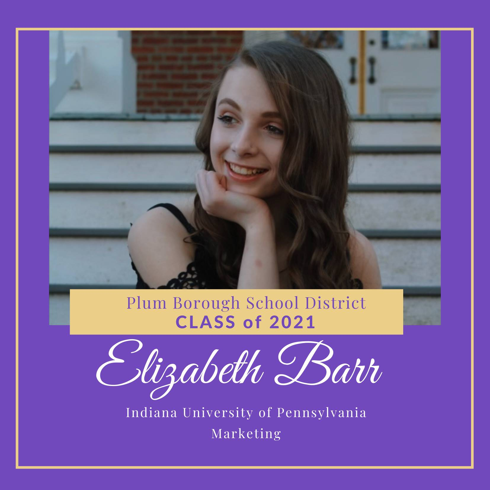 Congratulations to Elizabeth Barr, Class of 2021!