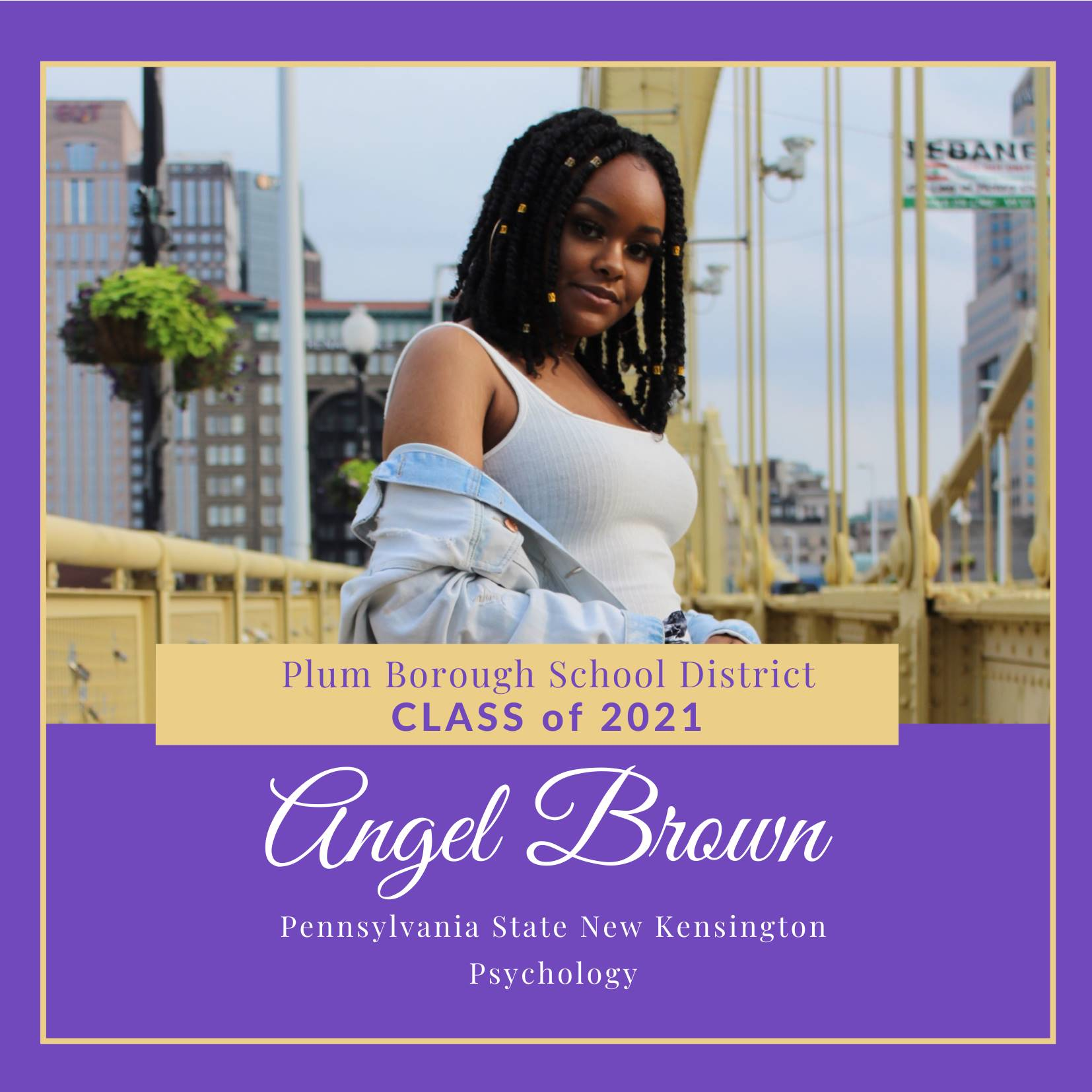 Congratulations to Angel Brown, Class of 2021!