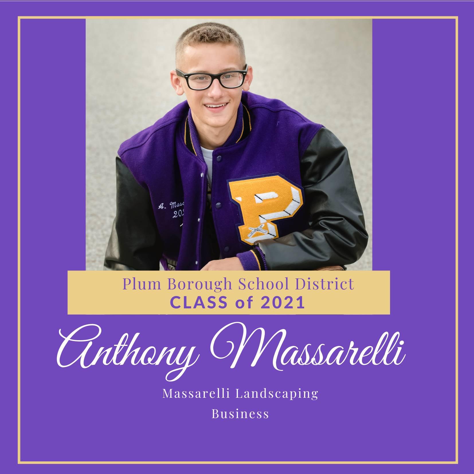 Congratulations to Anthony Massarelli, Class of 2021!