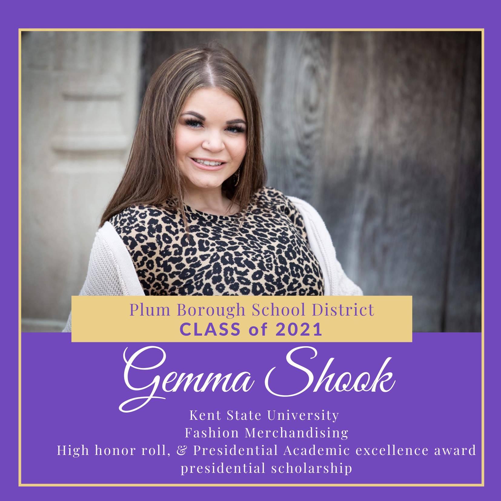 Congratulations to Gemma Shook, Class of 2021!