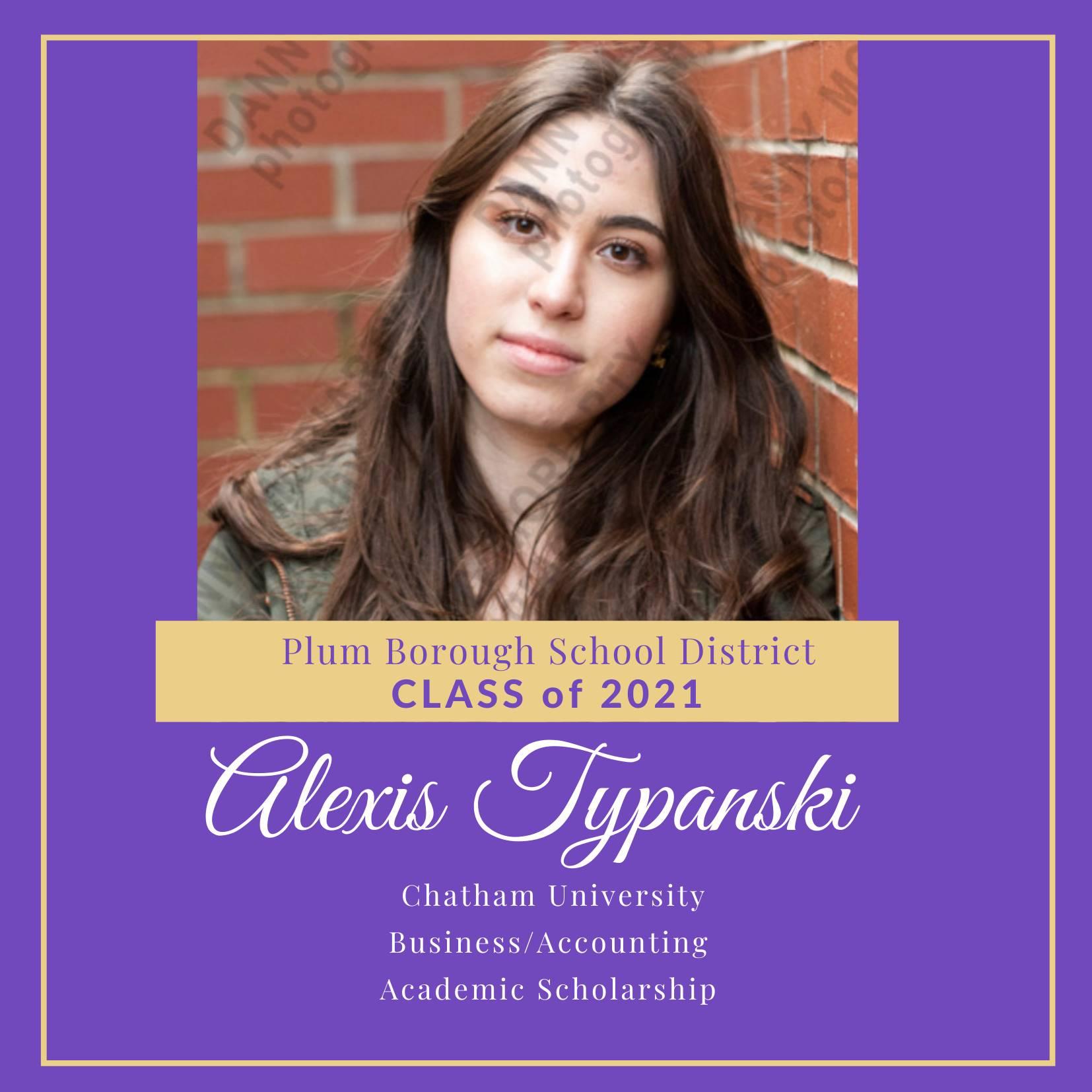 Congratulations to Alexis Typanski, Class of 2021!