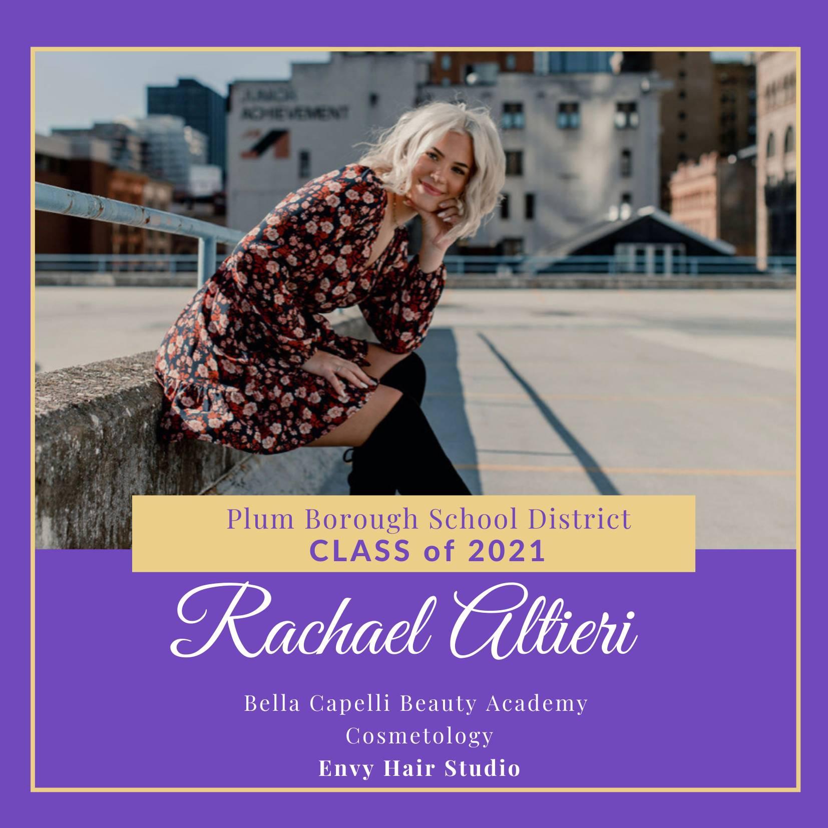 Congratulations to Rachael Altieri, Class of 2021!