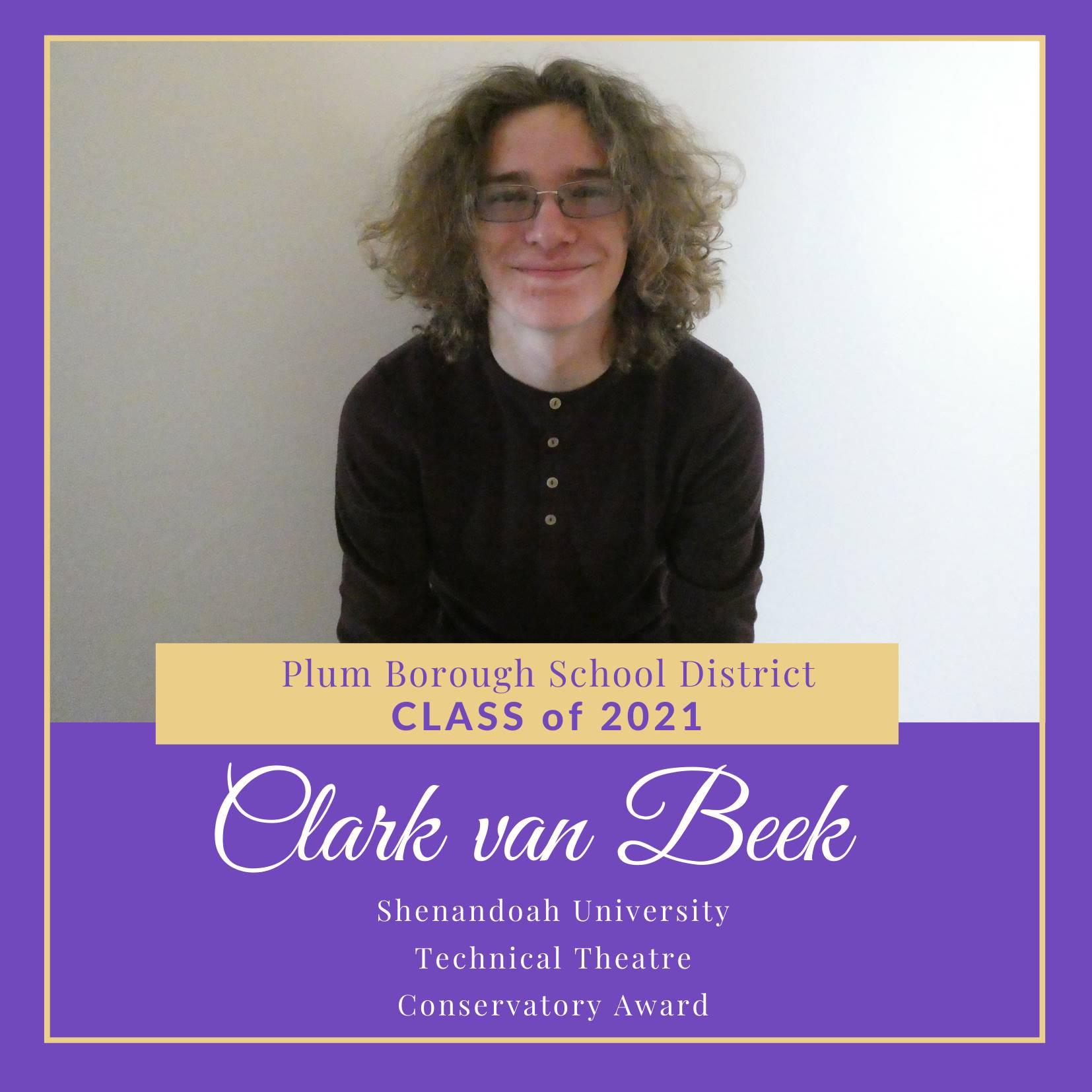 Congratulations to Clark van Been, Class of 2021!