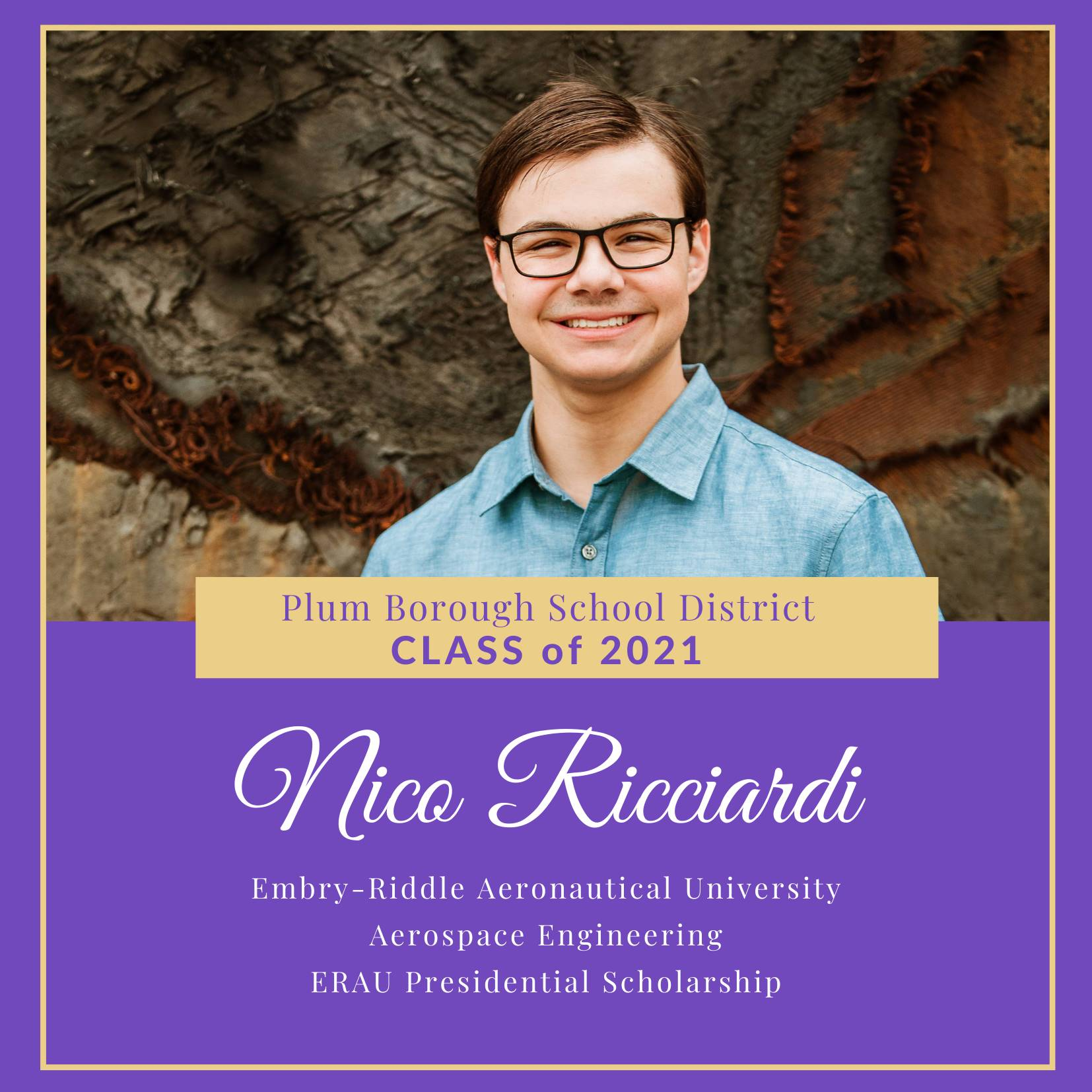 Congratulations to Nico Ricciardi, Class of 2021!