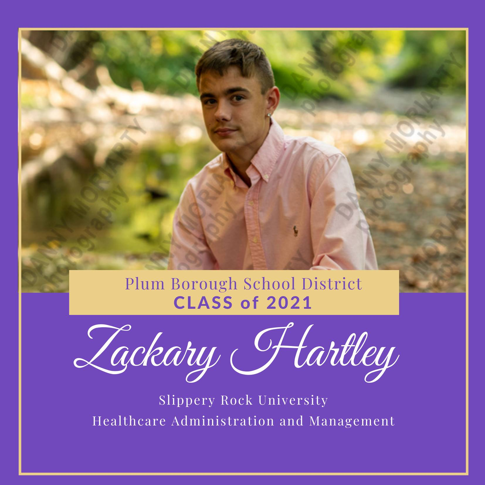 Congratulations to Zachary Hartley, Class of 2021!