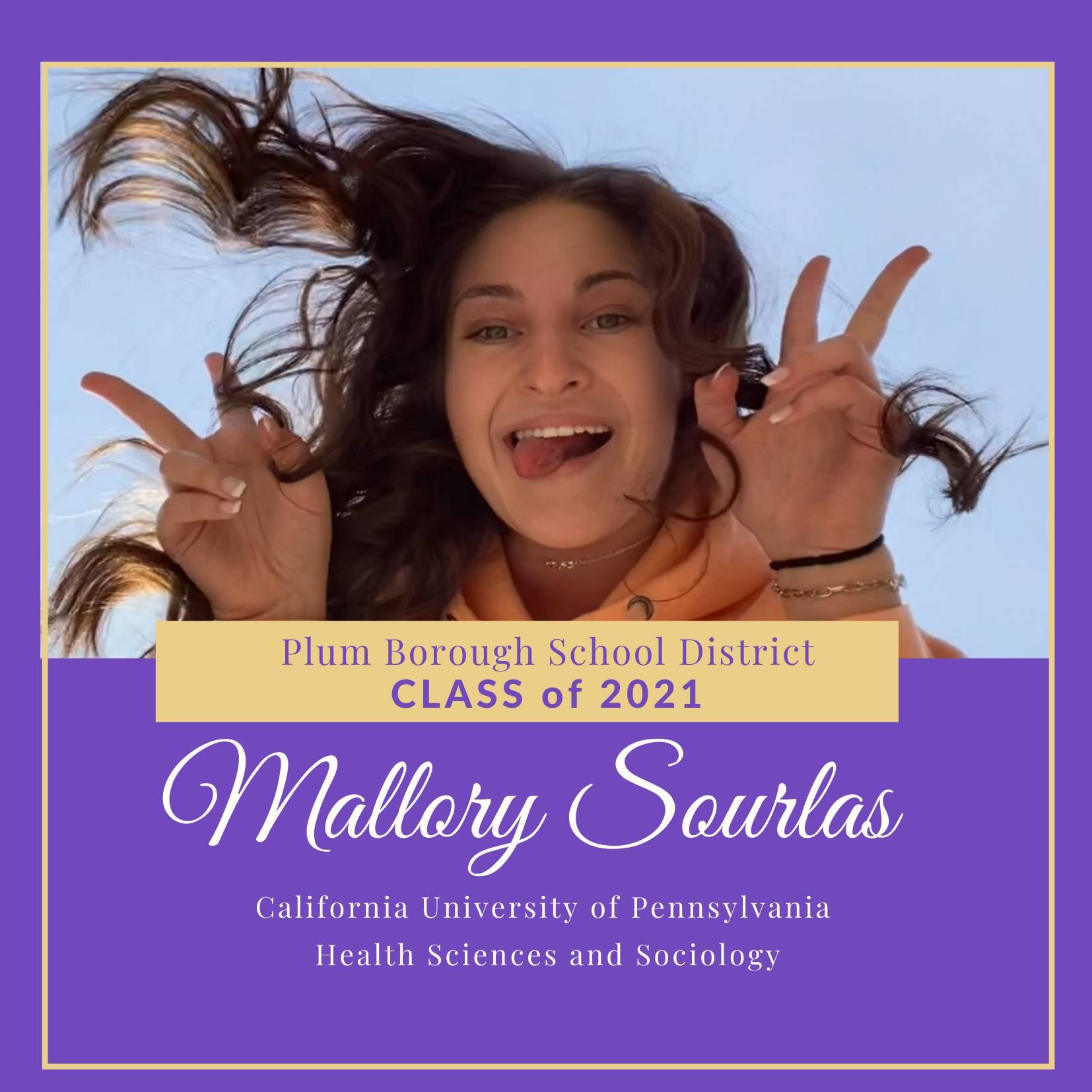 Congratulations to Mallory Sourlas, Class of 2021!