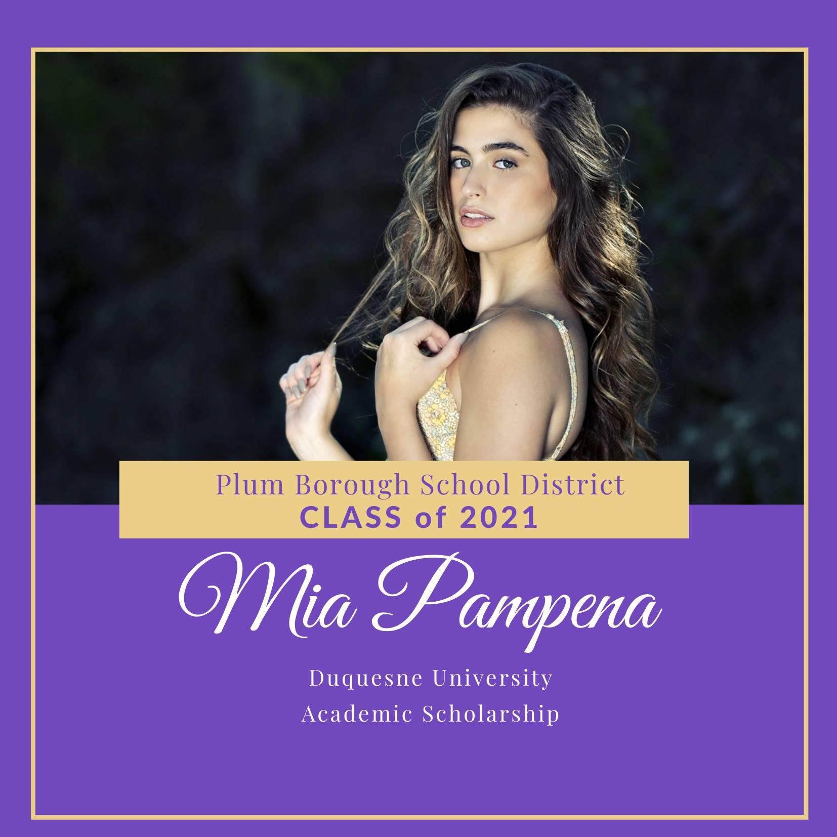Congratulations to Mia Pampena, Class of 2021!