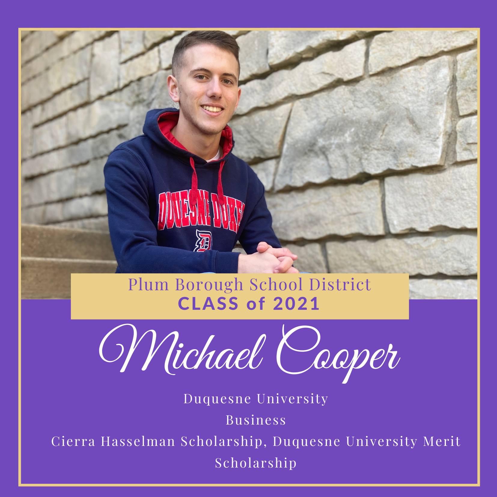 Congratulations to Michael Cooper, Class of 2021!