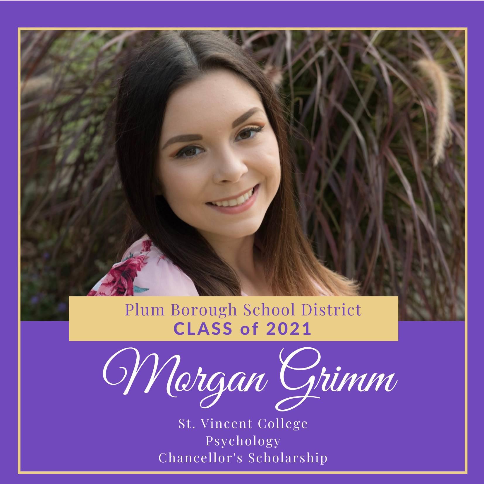 Congratulations to Morgan Grimm, Class of 2021!