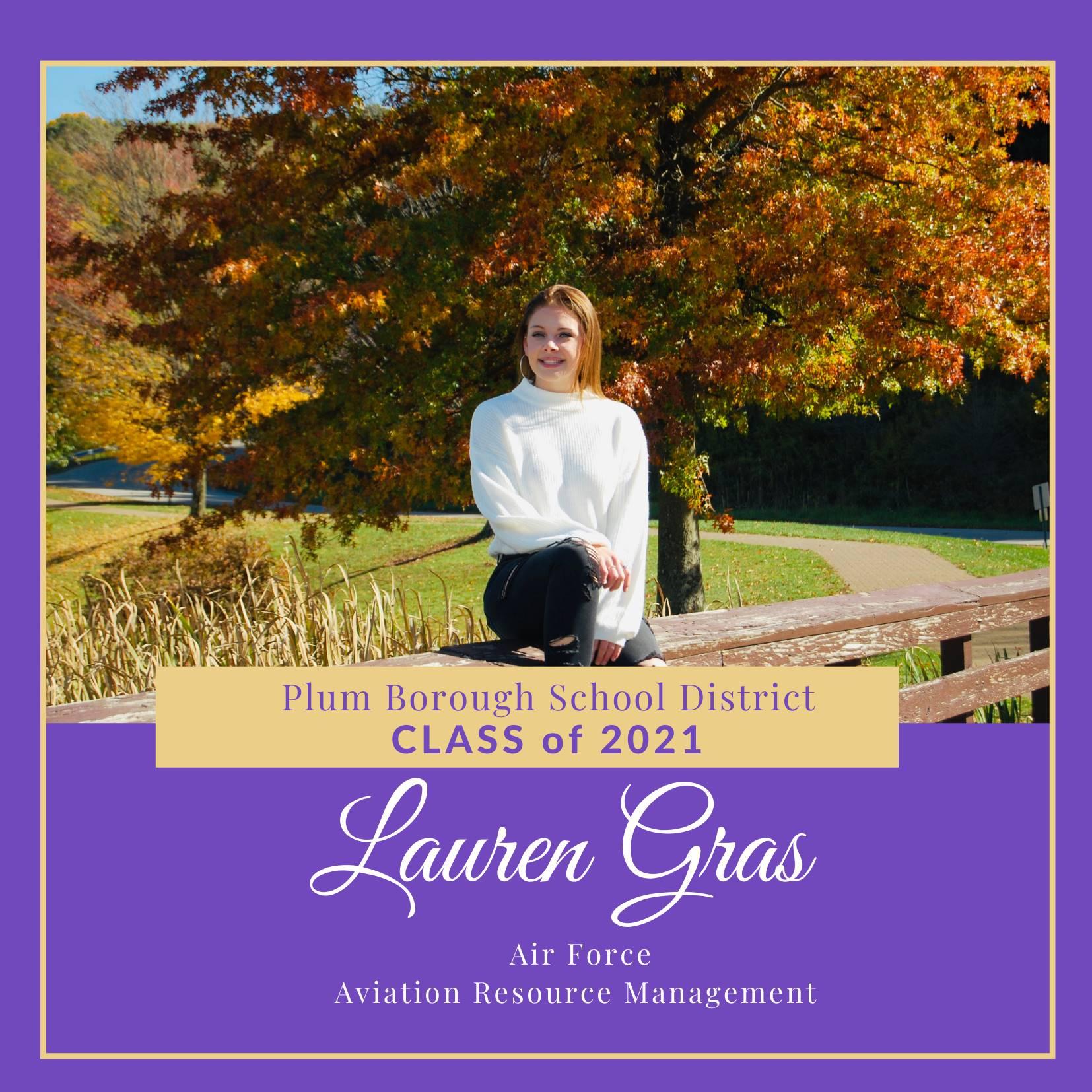 Congratulations to Lauren Gras, Class of 2021!