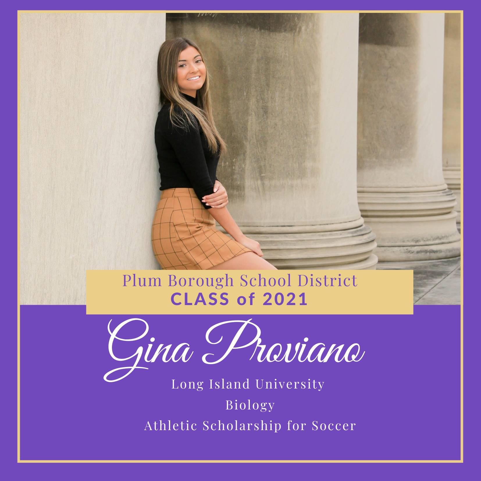 Congratulations to Gina Proviano, Class of 2021!
