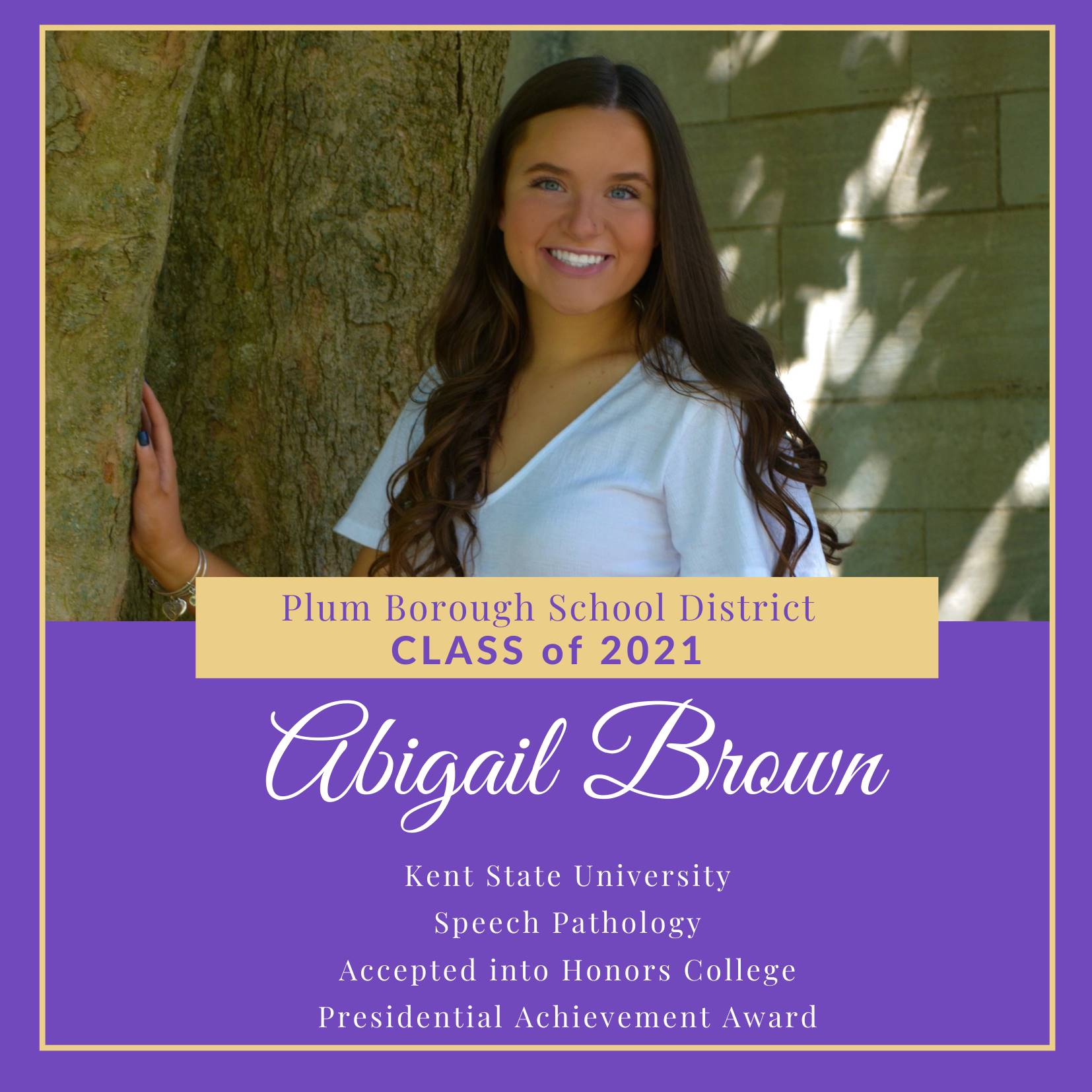 Congratulations to Abigail Brown, Class of 2021!