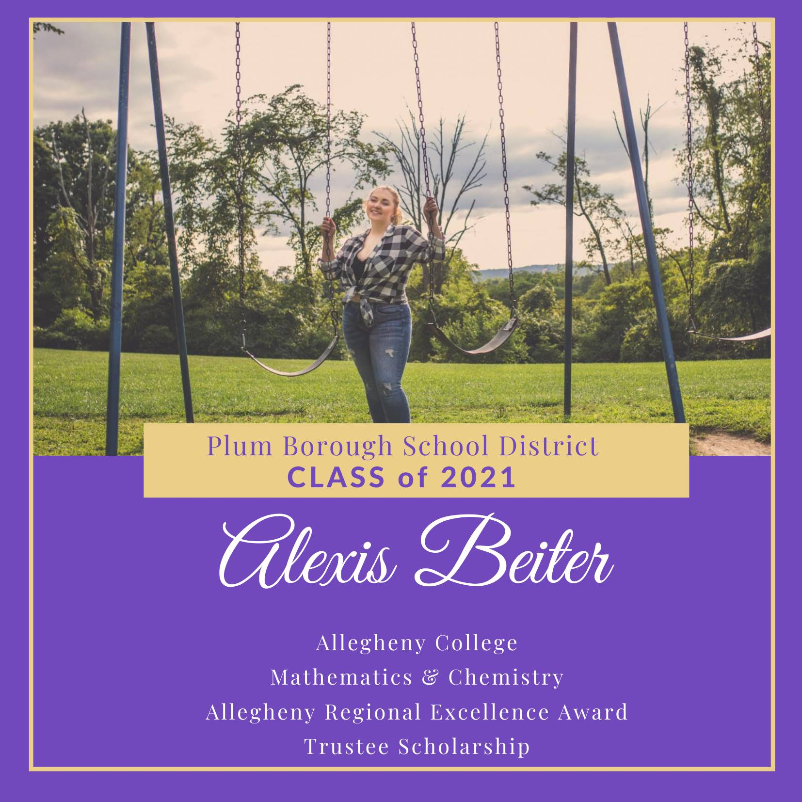 Congratulations to Alexis Beiter, Class of 2021!